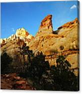 The Mountains Of Capital Reef   Canvas Print