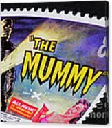 The Mummy Postage Stamp Print Canvas Print