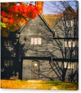 The Mysterious Witch House Of Salem Canvas Print