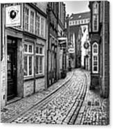 The Narrow Cobblestone Street Canvas Print
