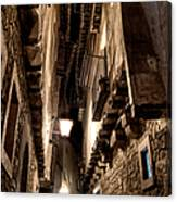 Narrow Street In Albarracin Canvas Print