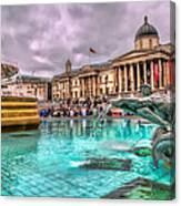 The National Gallery In Trafalgar Square Canvas Print