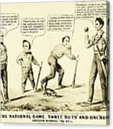 The National Game - Abraham Lincoln Plays Baseball Canvas Print