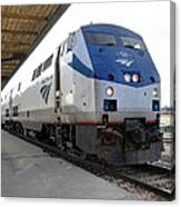 The National Railroad Passenger Corp Amtrak Canvas Print