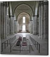 The Nave With Tombs Fontevraud Abbey Canvas Print