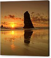 The Needles At Haystack - Cannon Beach Sunset  Canvas Print