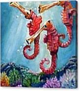 The Neptunes -- Trumpeteers Canvas Print