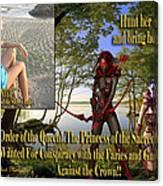 Princess Of The Sacred Lake Canvas Print