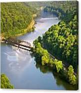 The New River From Hawks Nest Canvas Print