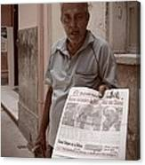 The Newspaper Seller Canvas Print