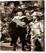 The Night Watch By Rembrandt Canvas Print