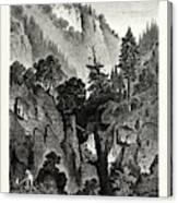 The Nunnery Of Ottilienberg, Alsace. Mont Sainte-odil Canvas Print