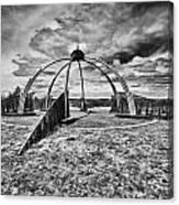 The Observatory Monochrome Canvas Print
