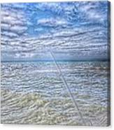 The Ocean And The Pole Canvas Print