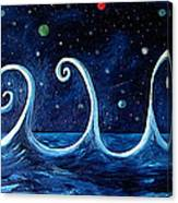 The Ocean, The Moon And The Stars Canvas Print
