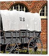 The Old Army Wagon Canvas Print