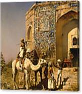 The Old Blue Tiled Mosque - India Canvas Print