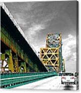 The Old Bridge Hwy 190 Mississippi River Bridge Baton Rouge Canvas Print