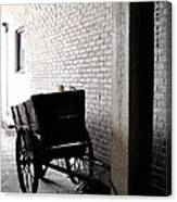 The Old Cart From The Series View Of An Old Railroad Canvas Print