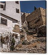 The Old Houses Of Ronda. Andalusia. Spain Canvas Print