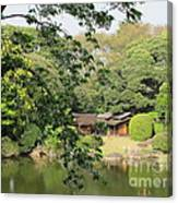 the old Japanese House by the water Canvas Print