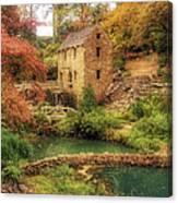 The Old Mill In Autumn - Arkansas - North Little Rock Canvas Print