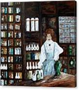 The Old Pharmacy ... Medicine In The Making Canvas Print