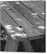 The Old Picnic Table Canvas Print