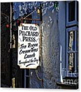 The Old Pilchard Press Canvas Print