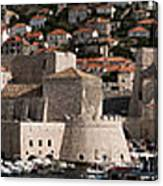 The Old Port Of Dubrovnik Canvas Print