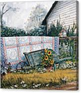 The Old Quilt Canvas Print