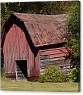 The Old Red Barn Canvas Print
