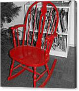 The Old Red Rocking Chair Canvas Print
