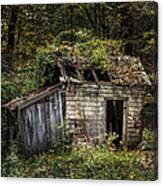 The Old Shack In The Woods - Autumn At Long Pond Ironworks State Park Canvas Print
