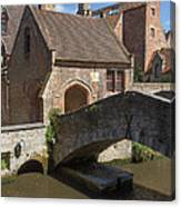 The Old Stone Bridge In Bruges Canvas Print