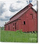 The Old Abandon Tobacco Barn Canvas Print