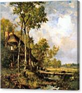 The Old Windmill Near Barbizon Canvas Print