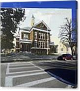 The Oliver School In Bristol Rhode Island Canvas Print