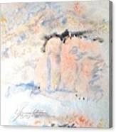 The Orange Bluffs Canvas Print