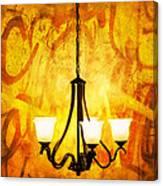 The Orange Lamp Canvas Print