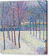 The Orchard Under The Snow  Canvas Print