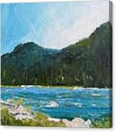 The Other Side Lake Chumash Canvas Print