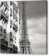 The Other View Of The Eiffel Tower Canvas Print