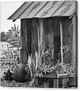 The Outhouse Bw Canvas Print