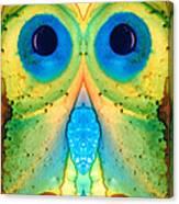 The Owl - Abstract Bird Art By Sharon Cummings Canvas Print