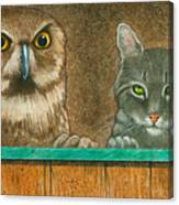 The Owl And The Pussycat... Canvas Print