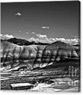 The Painted Hills Bw Canvas Print