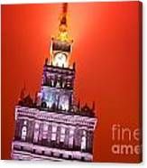 The Palace Of Culture And Science Warsaw Poland  Canvas Print