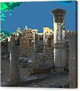 The Palaestra -temple Of Apollo Canvas Print