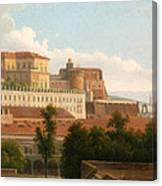 The Palazzo Reale And The Harbor. Naples Canvas Print
